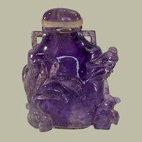 Chinese Qing Dynasty Amethyst Snuff Bottle