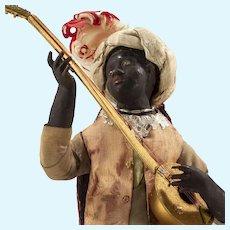Two Neapolitan Moor Musician Figures