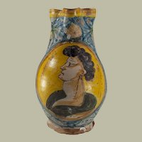 Montelupo Tuscan Painted Maiolica Jug -Early 17th c.