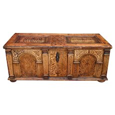 Antique Austrian inlaid Desk, circa 1650