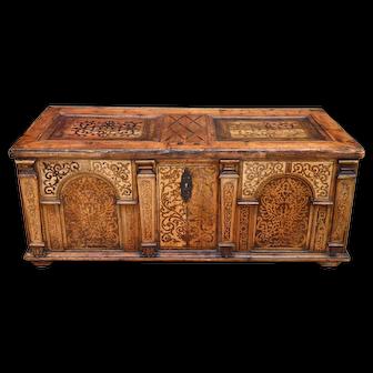 Antique Austrian inlaid Desk, circa 1650