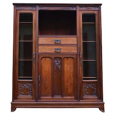 French Art Nouveau Mahogany Library by Gauthier-Poinsignon, circa 1910