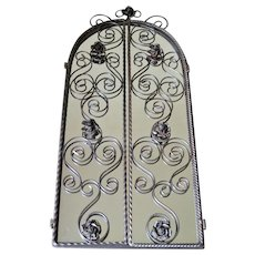 Wrought Iron Mirror Art Deco with roses