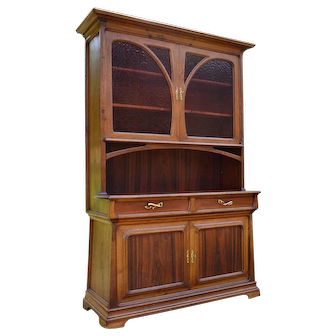 French Art Nouveau Buffet in Chestnut & Exotic Wood , circa 1900
