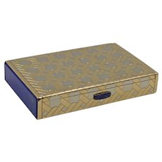 Vintage Tiffany & Co. Two-Tone 14K Gold and Lapis Lazuli Box
