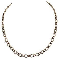 """A Vintage Italian 14K Yellow Gold Fancy Link Necklace, 18"""""""