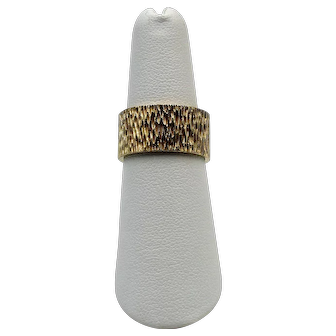 Vintage 14K Yellow Gold Textured Band