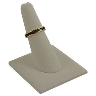 Vintage 18K Yellow Gold and Green Enamel Band