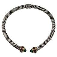 Vintage David Yurman Renaissance Hinged Cable Necklace