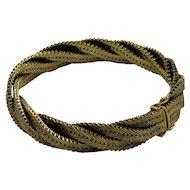 Vintage 18K Yellow Gold Italian Woven Bracelet