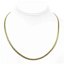 """14k Yellow Gold 3.5mm Light Hollow Figure 8 Link Chain Necklace Italy 19"""""""