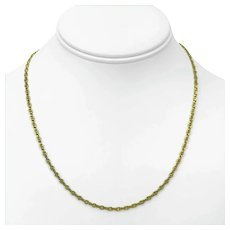 """14k Yellow Gold Thin 2.5mm Anchor Mariner Gucci Link Chain Necklace Italy 18"""""""