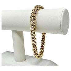 "10k Yellow Gold Men's 24.6g Squared Modified Cuban Curb Link Bracelet 9"""