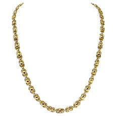 """14k Yellow Gold UnoAErre Fancy Modified Cable Link Chain Necklace Italy 30"""""""
