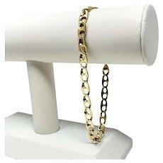 "14k Yellow Gold 13.6g Fancy Gucci Anchor Mariner Link Chain Bracelet 9.5"""