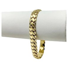 14k Fine Yellow Gold 10.2g Fancy Link 8.5mm Link Bracelet 7 Inches