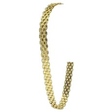 14k Yellow Gold 5.5mm Bismark Link Chain Bracelet 7.5""
