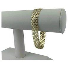 """14k Yellow Gold 16g Vintage 13mm Wide Bismark Link Bracelet Puerto Rico 7.5"""""""