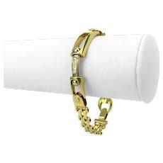 "Kria Gioielli 18k Yellow Gold 34g Ladies Fancy Link Chain Bracelet Italy 7"""