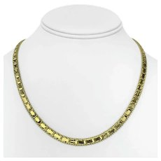 """14k Yellow Gold 22.8g Imperial Gold QVC Mirror Bar Link Chain Necklace 18"""""""