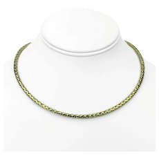"""14k Yellow Gold Milor Ladies Braided Weave Open Design Necklace Italy 17"""""""