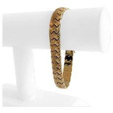 """14k Yellow Gold 15.6g Ladies 11mm Fancy Link Bracelet 7.75"""""""