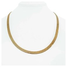 14k Yellow Gold 23.5g Solid 5mm Herringbone Link Chain Necklace Italy 20""