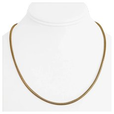 """14k Yellow Gold 9.1g Ladies 2.5mm Snake Link Chain Necklace Italy 18"""""""