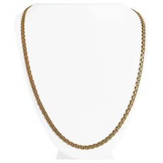 14k Yellow Gold 29.5g Solid Long 5mm Bismark Link Chain Necklace 30""