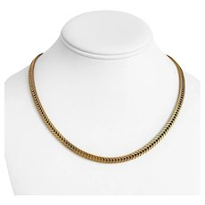 """14k Yellow Gold 25g Solid Heavy 4.5mm Franco Foxtail Link Chain Necklace 18"""""""