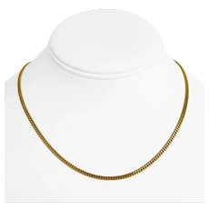 22k Yellow Gold 11.8g Solid Thin Ladies 2.5mm Curb Link Chain Necklace 16""