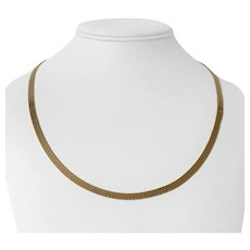 """14k Yellow Gold 16g Solid 4mm Herringbone Link Chain Necklace 20"""""""
