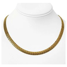 """14k Yellow Gold 13.2g Ladies 6.5mm Fancy Link Chain Necklace Italy 18"""""""
