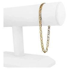 "14k Yellow Gold 6.2g Hollow Light 4.5mm Mariner Gucci Link Bracelet Italy 8.75"""