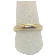 14k Solid Yellow Gold Frederick Goldman Men's Wedding Band Ring Size 10.25