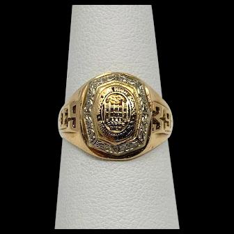10k Yellow Gold Vintage 1939 Woodlawn High Birmingham AL Class Ring Size 7