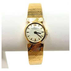 18k Yellow Gold 20g Vintage Dichi Watch 17 Rubis Swiss Ladies Wrist Watch