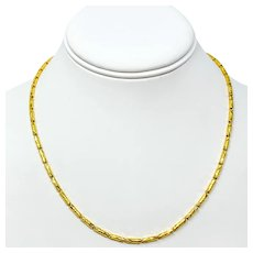 24k .999 Solid Fine Yellow Gold Diamond Cut Fancy Link Chain Necklace 18 Inches