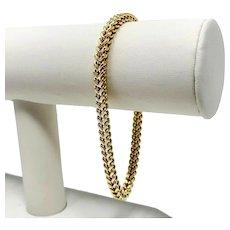"10k Yellow Gold Diamond Cut Squared Modified Cuban Curb Link Bracelet 8.25"""