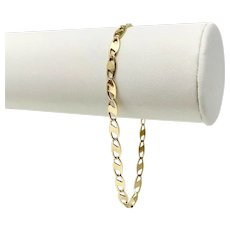 """14k Yellow Gold Modified Gucci Anchor Mariner Link Bracelet Italy 8"""""""