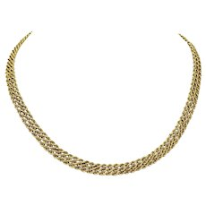14k Solid Yellow Gold Heavy 28.7g Triple Rope Chain Necklace 17.5 Inches