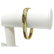 14k Yellow White Rose Gold Tri Tone Vintage Women's Bracelet Italy 7 Inches