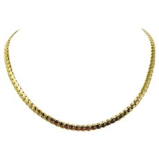 """18k Yellow Gold Fancy Flat Link Balestra Designer Chain Necklace Italy 17.75"""""""