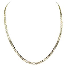 """10k Yellow White Gold Two Tone Diamond Cut Gucci Link Chain Necklace 20.5"""""""