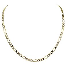 14k Yellow Gold Solid 17g Figaro Link 5mm Chain Necklace 21 Inches