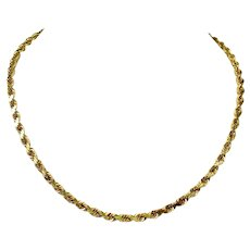 14k Yellow Gold 31g Heavy Solid 4mm Rope Chain Necklace 18 Inches