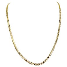 14k Yellow Gold Designer Milor Bismark Link Chain Necklace Italy 28 Inches