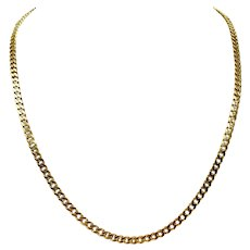 4k Solid Yellow Gold 37g Cuban Curb Link 4.5mm Chain Necklace 21.5""