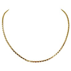 18k Yellow Gold 8.1g Popcorn Style 2.5mm Chain Necklace Italy 18 Inches