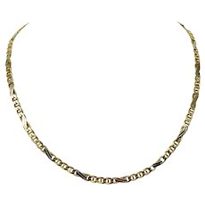 """14k Yellow Gold 23.6g Fancy Gucci Anchor Mariner Link Chain Necklace Italy 20"""""""